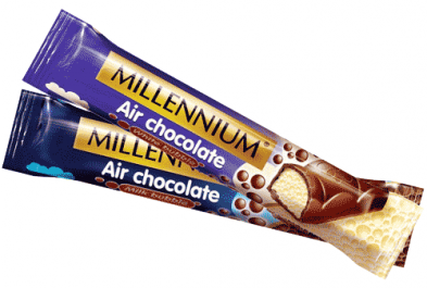 The most popular aerated chocolate in a convenient format the bar!